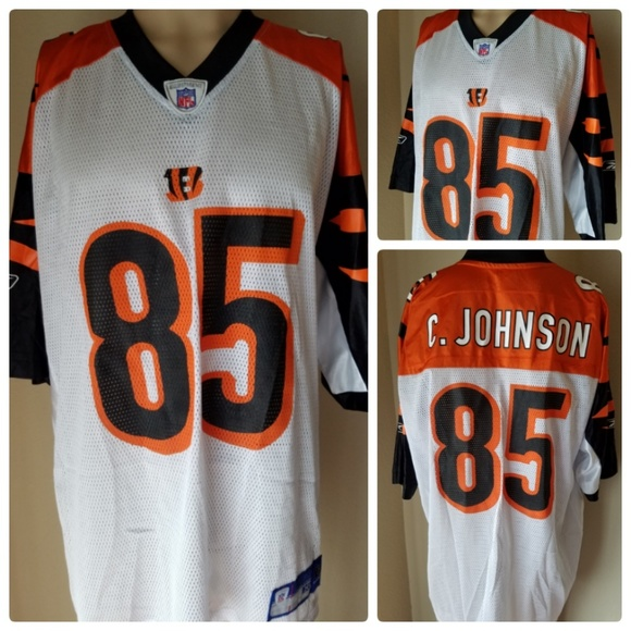 Reebok Other - Cincinnati Bengals C. Johnson Jersey Authentic 85